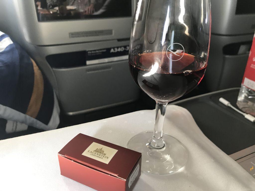 Lufthansa A340 business class chocolate