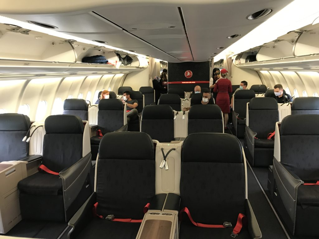 Turkish Airlines A330 business class cabin