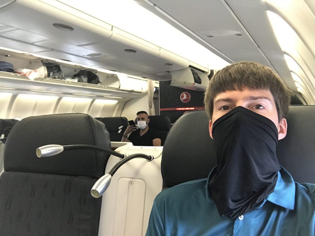 Turkish Airlines A330 business class selfie