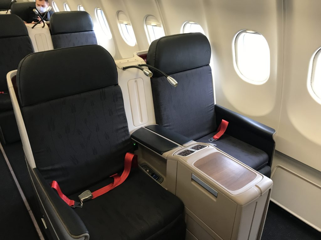 Turkish Airlines A330 business class seat