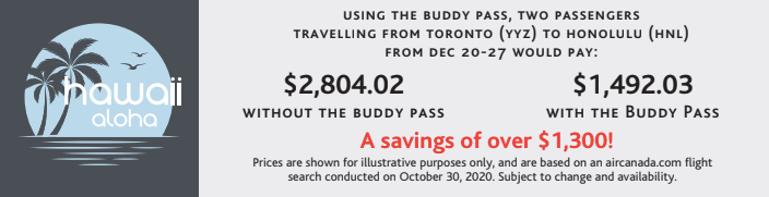 Air Canada Buddy Pass