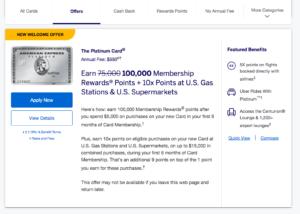 100k amex platinum offer